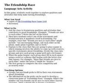 The Friendship Race Lesson Plan