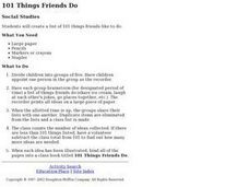 101 Things Friends Do Lesson Plan