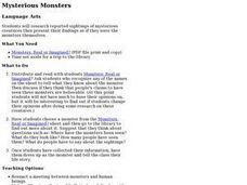 Mysterious Monsters Lesson Plan