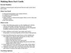 Making Hero Fact Cards Lesson Plan