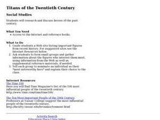 Titans of the Twentieth Century Lesson Plan