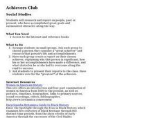 Achievers Club Lesson Plan