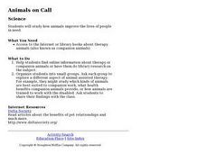 Animals on Call Lesson Plan