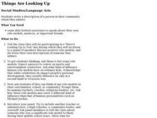 Things Are Looking Up Lesson Plan