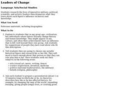 Leaders of Change Lesson Plan