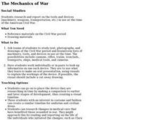 The Mechanics of War Lesson Plan