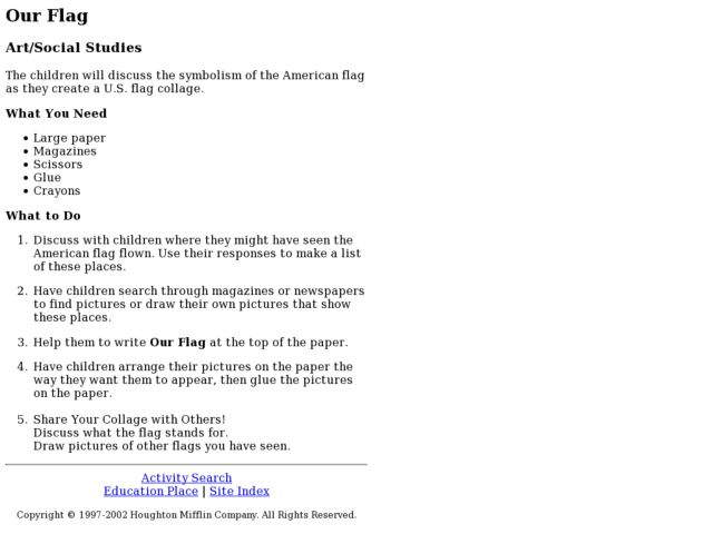 Our Flag Lesson Plan