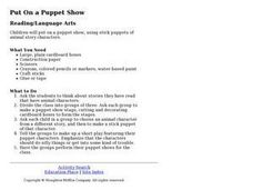 Put On a Puppet Show Lesson Plan