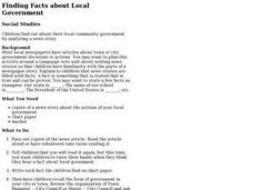 Finding Facts About Local Government Lesson Plan