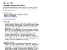 Jobs on File Lesson Plan