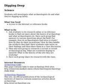 Digging Deep Lesson Plan