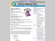 Writing the Mystery with a Purpose Lesson Plan
