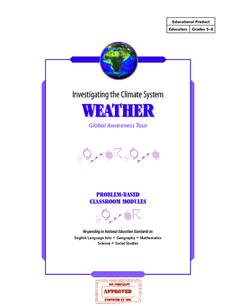 Investigating the Climate System WEATHER Lesson Plan