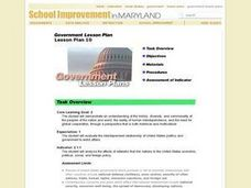 Government Lesson Plan: Lesson Plan 10 Lesson Plan