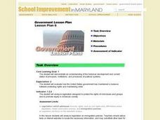 Government Lesson Plan:  Lesson Plan 6 Lesson Plan