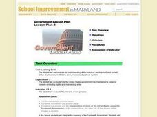 Government Lesson Plan:  Lesson Plan 8 Lesson Plan