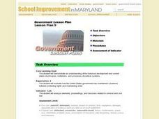 Government Lesson Plan:  Lesson Plan 9 Lesson Plan