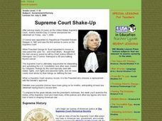 Supreme Court Shake-Up Lesson Plan