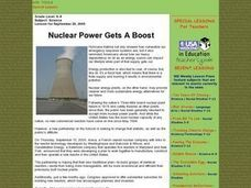 Nuclear Power Gets A Boost Lesson Plan