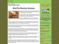 Bird Flu Worries Humans Lesson Plan