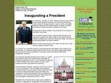 Inaugurating a President Lesson Plan