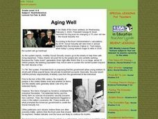 Aging Well Lesson Plan