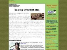 Dealing With Diabetes Lesson Plan