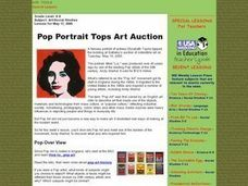 Pop Portraits Tops Art Auction Lesson Plan