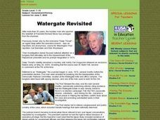 Watergate Revisited Lesson Plan