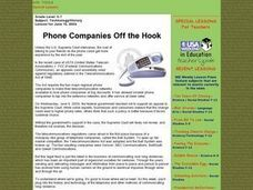 Phone Companies Off the Hook Lesson Plan