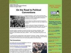 On the Road to Political Conventions Lesson Plan