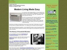 Modern Living Made Easy Lesson Plan