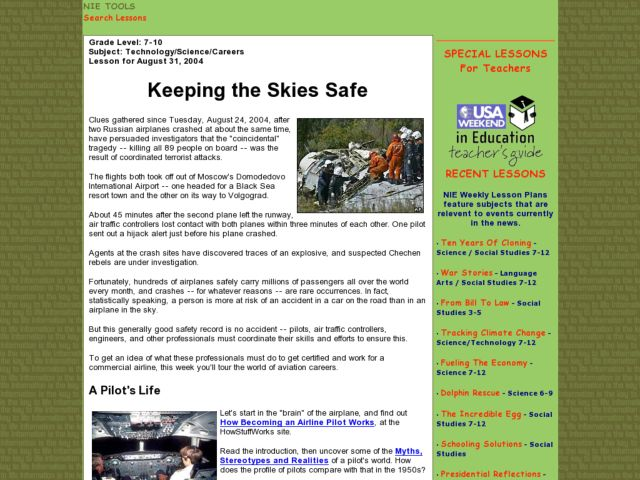 Keeping the Skies Safe Lesson Plan