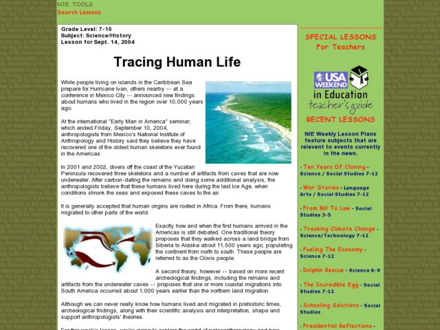 Tracing Human Life Lesson Plan