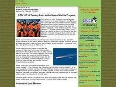 A Turning Point in the Space Shuttle Program Lesson Plan