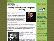 Country Music Mourns A Legend's Passing Lesson Plan