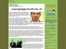 A Hot Spotlight On UK's No. 10 Lesson Plan