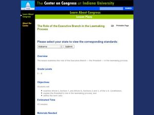The Role of the Executive Branch in the Lawmaking Process Lesson Plan