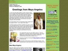 Greetings from Maya Angelou Lesson Plan