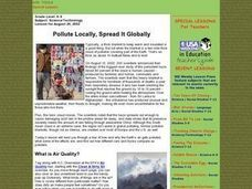 Pollute Locally, Spread It Globally Lesson Plan