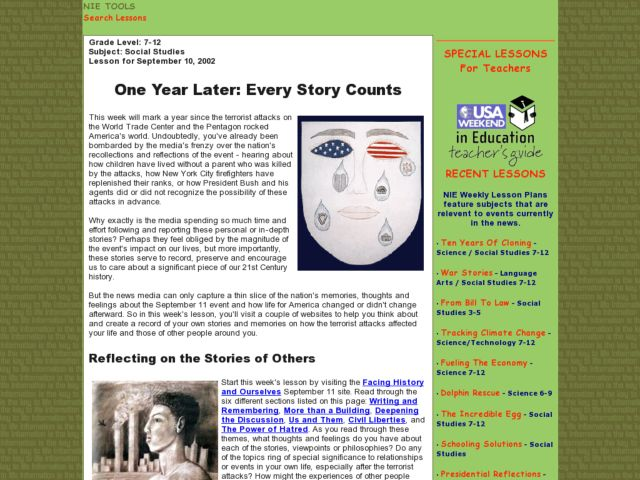 One Year Later: Every Story Counts Lesson Plan
