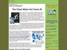 The Clean Water Act Turns 30 Lesson Plan