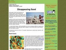 Disappearing Sand Lesson Plan