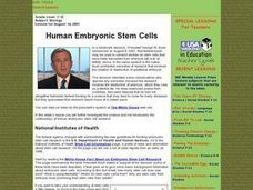 Human Embryonic Stem Cells Lesson Plan
