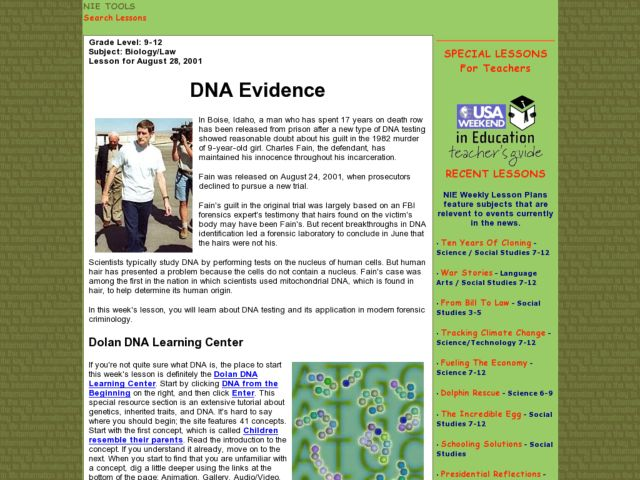 DNA Evidence Lesson Plan