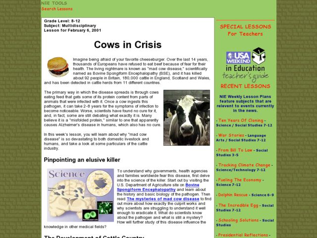 Cows in Crisis Lesson Plan