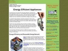 Energy Efficient Appliances Lesson Plan