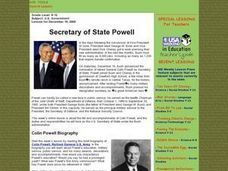 Secretary of State Powell Lesson Plan