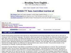 British TV Bans Australian Tourism Ad-Harder Lesson Worksheet