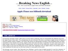 Apple iTunes Sees Billionth Download-Harder Lesson Worksheet